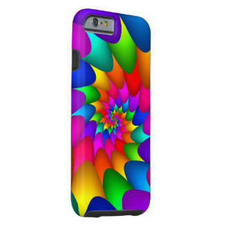 Psychedelic Rainbow Spiral iPhone 6, Tough Tough iPhone 6 Case