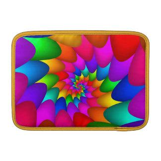 """Psychedelic Rainbow Spiral Macbook Air 11"""" MacBook Sleeve"""