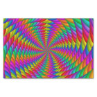 Psychedelic Rainbow Spiral Tissue Paper