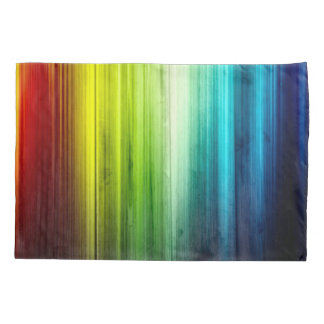 Psychedelic Rainbow Wood Pattern Pillowcase