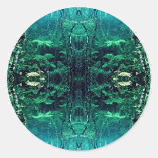 Psychedelic Rainforest Round Sticker