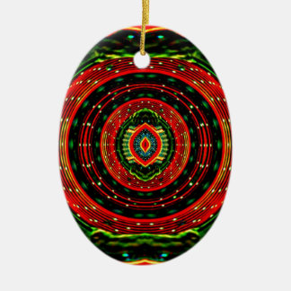 Psychedelic Rasta Ceramic Ornament