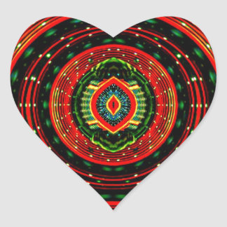 Psychedelic Rasta Heart Sticker