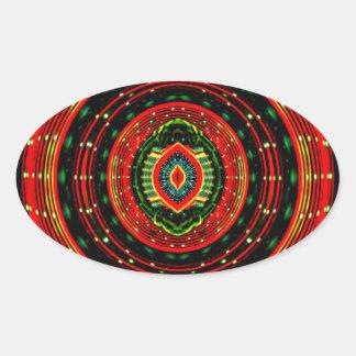 Psychedelic Rasta Oval Sticker
