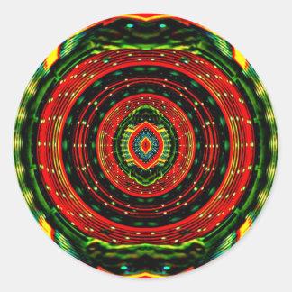 Psychedelic Rasta Round Sticker