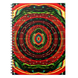 Psychedelic Rasta Spiral Notebooks