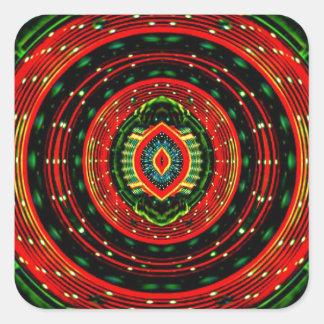Psychedelic Rasta Square Sticker