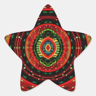 Psychedelic Rasta Star Sticker
