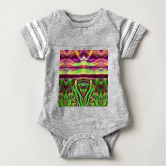 Psychedelic Rave Print Baby Bodysuit