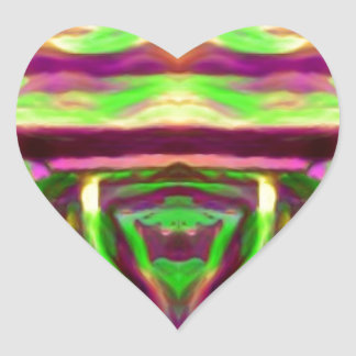 Psychedelic Rave Print Heart Sticker