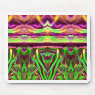 Psychedelic Rave Print Mouse Pad
