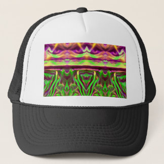 Psychedelic Rave Print Trucker Hat