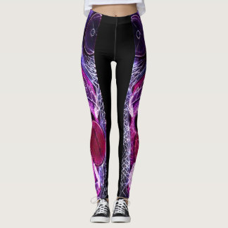 Psychedelic Raver Rave Party Leggings