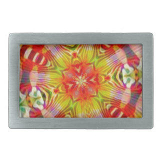 Psychedelic Rectangular Belt Buckles