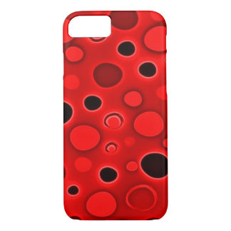 Psychedelic Red Lava Lamp Bubbles iPhone 7 Case