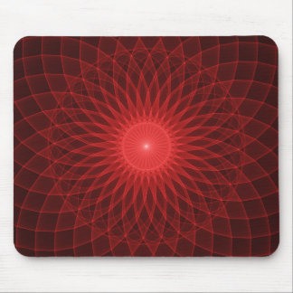 Psychedelic Red Light Design Mousepad