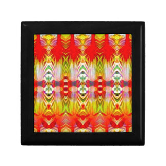 Psychedelic Red Yellow Gift Box
