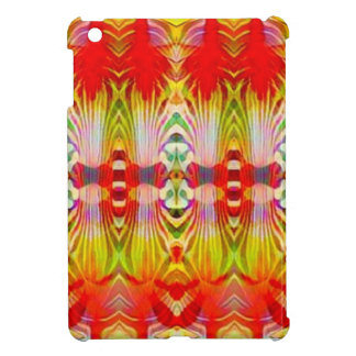 Psychedelic Red Yellow iPad Mini Cover