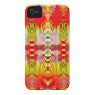 Psychedelic Red Yellow iPhone 4 Case-Mate Case