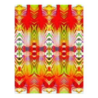 Psychedelic Red Yellow Letterhead