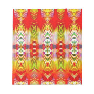 Psychedelic Red Yellow Notepad