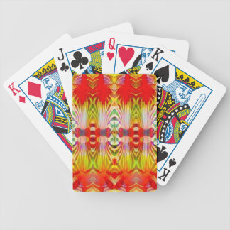 Psychedelic Red Yellow Poker Deck