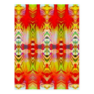 Psychedelic Red Yellow Postcard