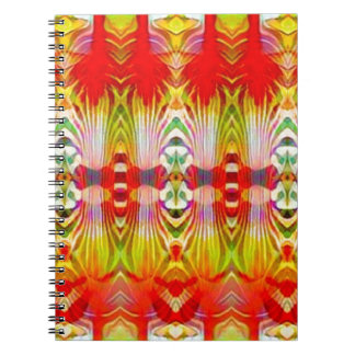 Psychedelic Red Yellow Spiral Notebook