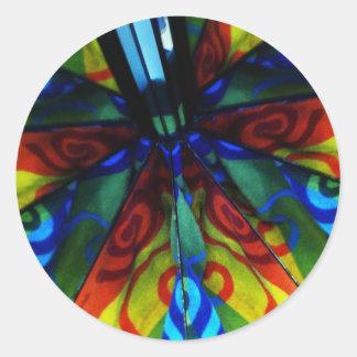 Psychedelic Reflections Mirror Swirls Design Round Sticker