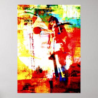 Psychedelic Retro 70s Art Print