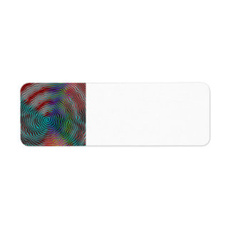 Psychedelic Return Address Label
