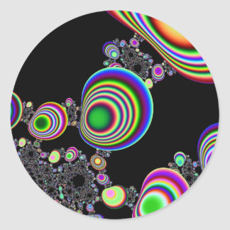 Psychedelic Ripple Classic Round Sticker
