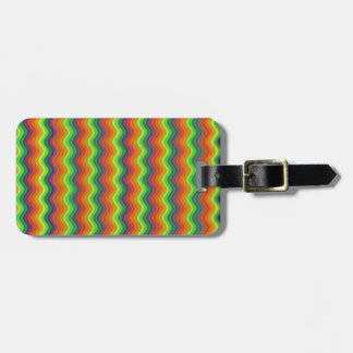 Psychedelic Ripples Luggage Tag