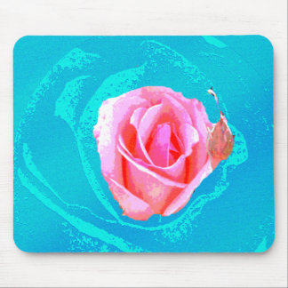 psychedelic rose mouse pad
