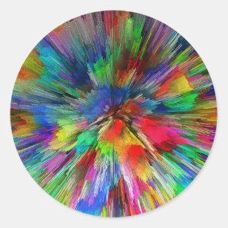 Psychedelic Round Sticker