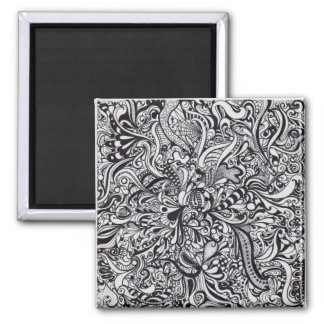 Psychedelic Rush Square Magnet