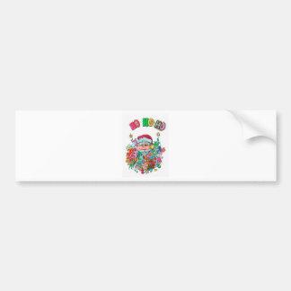 Psychedelic Santa Bumper Sticker