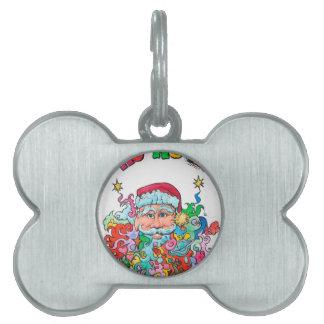 Psychedelic Santa Pet ID Tag