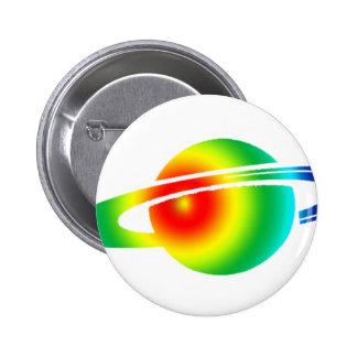 Psychedelic Saturn 2 Inch Round Button