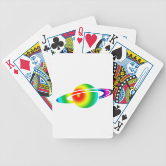 Psychedelic Saturn Bicycle Playing Cards