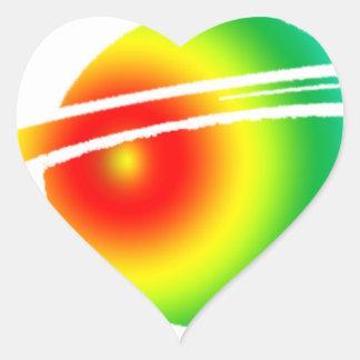 Psychedelic Saturn Heart Sticker