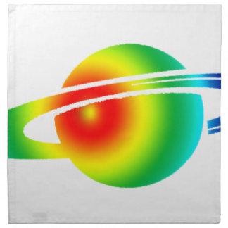 Psychedelic Saturn Napkin