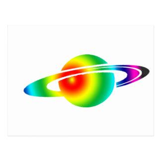 Psychedelic Saturn Postcard
