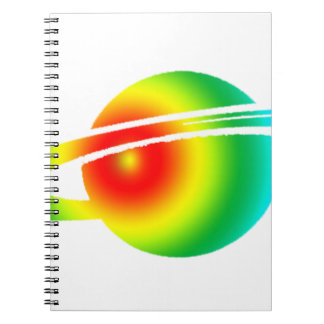 Psychedelic Saturn Spiral Notebook