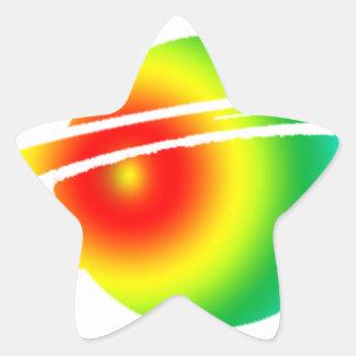 Psychedelic Saturn Star Sticker