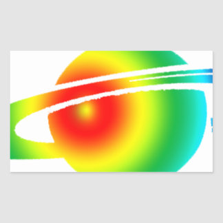 Psychedelic Saturn Sticker