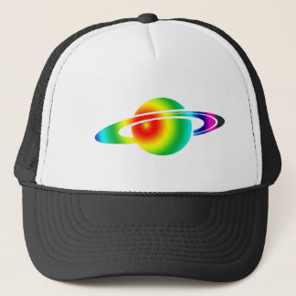 Psychedelic Saturn Trucker Hat