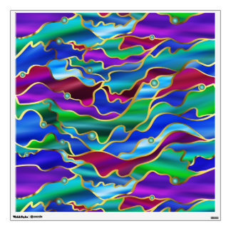 Psychedelic Seascape Stained Glass Abstract Wall Sticker