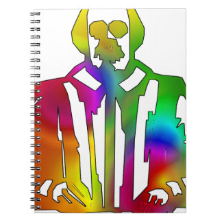 Psychedelic Shakespeare Spiral Notebook