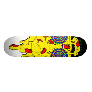 Psychedelic Skateboard - Pizzza face - deep space